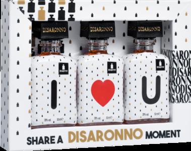 Amaretto DiSaronno I ♥ U / I love you geschenkverpakking