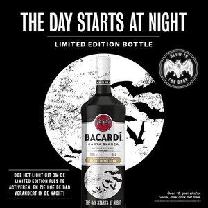 Bacardi Carta Blanca Rum 1,5 liter --Limited edition glow in the dark--